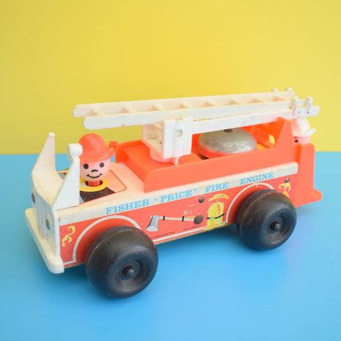 Vintage 1980s Fisher Price - Fire Engine - Classic Toy