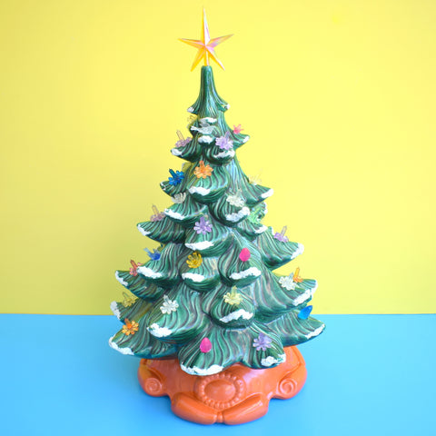 Vintage Ceramic Christmas Tree Light Atlantic 74 Mold Green With