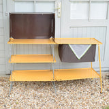 Vintage 1970s Folding Camping Stand Table - VW Camper Van, Glamping - Mustard