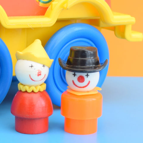 Vintage 1970s Fisher Price - Crazy Clown Car / Figures