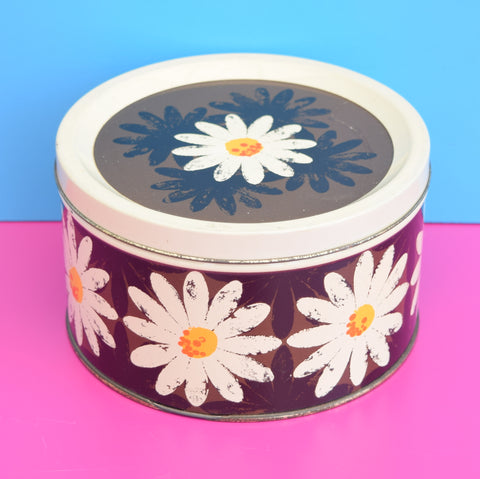 Vintage 1960s Metal Cadbury Chocolate Tin - Daisy Design