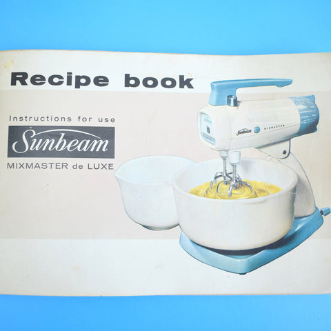 Vintage 1960s Sunbeam Mixmaster Food Mixer - Forget-Me-Not Blue, Sage Green & White