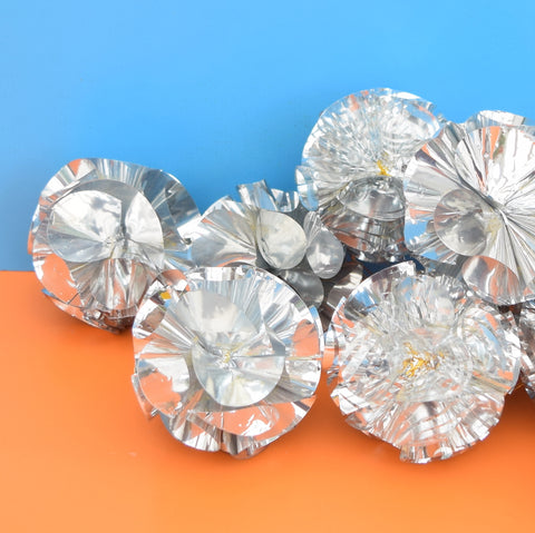 Vintage Kitsch Ball Decorations - Silver Foil