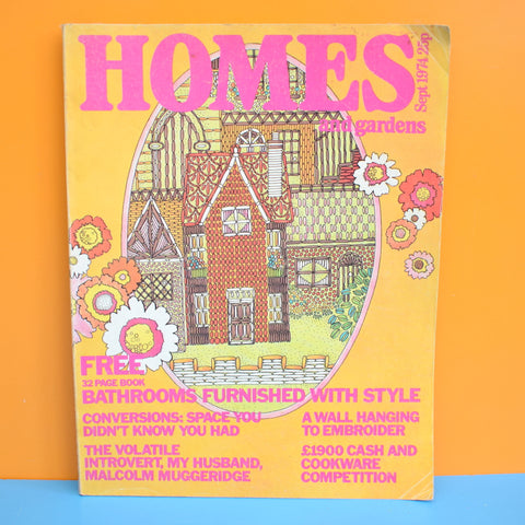 Vintage 1970s Homes And Gardens Magazine  - 1974