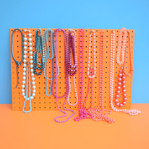 Vintage Necklaces / Pop Beads - Choose From List - Blue , Pink , Purple