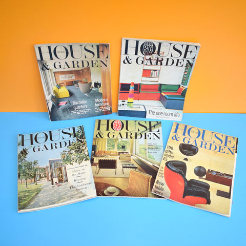 Vintage 1960s House And Garden Magazines  - 1964/65/66