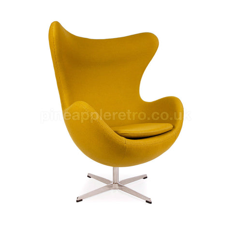 retro space age egg chair iconic arne jacobsen style mustard yellow arne jacobsen style egg