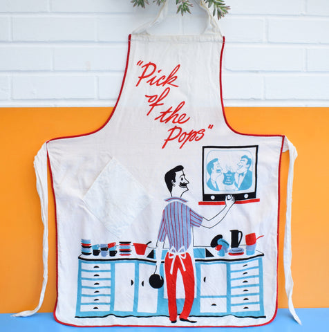 Vintage 1950s Full Apron- Pick Of The Pops