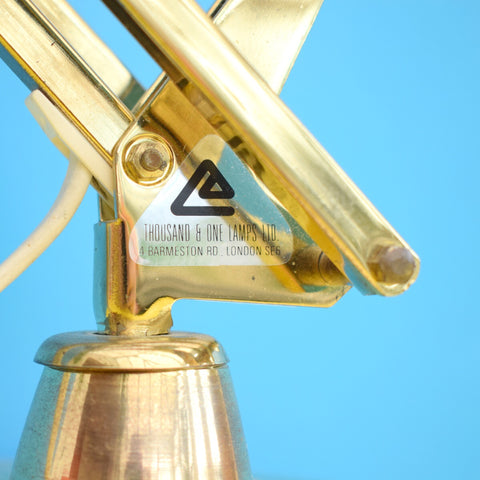 Vintage 1970s Angle poise Thousand & One Desk Lamp - Rare Brass Finish