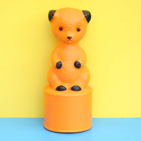 Vintage 1970s Sooty Bear Charity Money Box - Yellow
