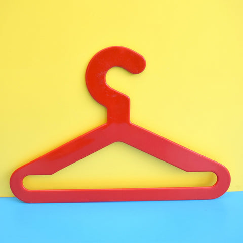 Vintage 1970s Plastic Clothes Hanger - Finland - Red