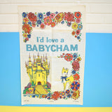 Vintage 1960s Unused Cotton Tea Towel - Babycham