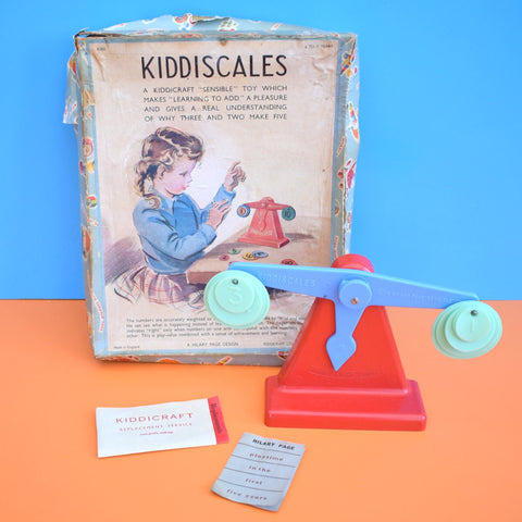 Vintage 1960s Plastic - Kiddiscales Scales- Kiddicraft - Boxed