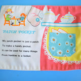 Vintage 1970s Cloth Book - Fisher Price - What's In My Pockets - Pink