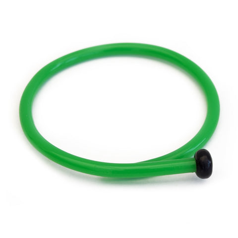 Retro Bangle by Cardigan Lane- Knitting Needle, Green with Black End