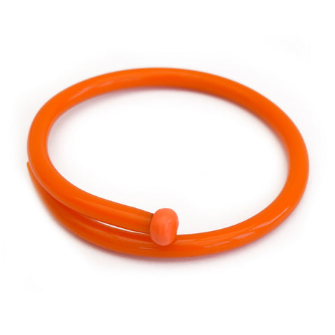 Retro Bangle by Cardigan Lane - Knitting Needle, Light Orange