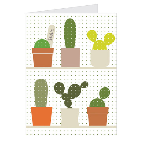 Retro Greeting Card Dicky-Bird, Cactus