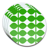Retro Coasters Set of 4 - Swedish by Floryd - Leaf Design, Green