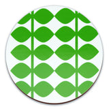 Retro Coasters Set of 4 - Swedish by Floryd - Leaf Design, Green Close Up