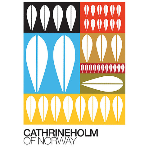 Retro A3 Graphic Print - 'Cathrineholm of Norway' Design by ReStyle