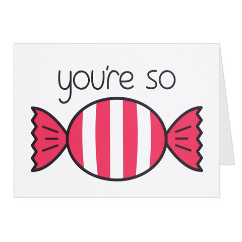 Retro Greeting Card By Hello Dodo, You're So Sweet, Candy