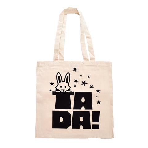 Retro Tote Bag by Hello Dodo, Ta Da Magic Rabbit / Top Hat Design