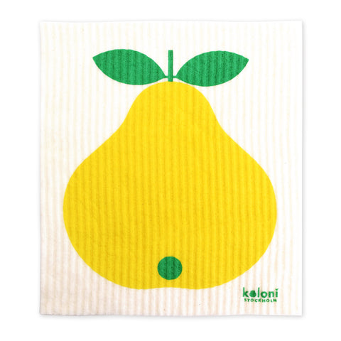 Retro Dish cloth - Swedish by Lotta Kuhlhorn - Pear Design, Yellow