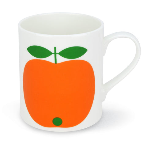 Retro Mug - Swedish by Lotta Kuhlhorn - Apple Design, Orange