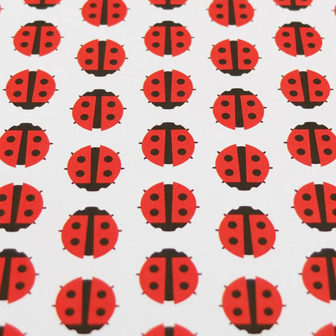 Retro Gift Wrapping Paper by Dicky-Bird, Ladybird