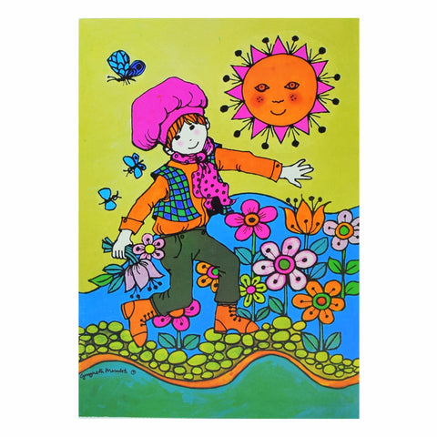 Vintage 1970s Greeting Card - by Gwyneth Mamlok - Jack, Green