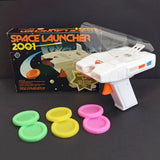 Space Launcher 2001 Toy Space Gun, Complete With Box and Projectiles