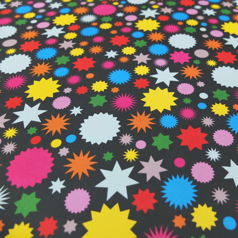 Retro Gift Wrapping Paper by Dicky-Bird, Starburst