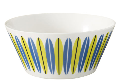 Retro Bowl - Danish Superliving Emma design, Lime and Blue