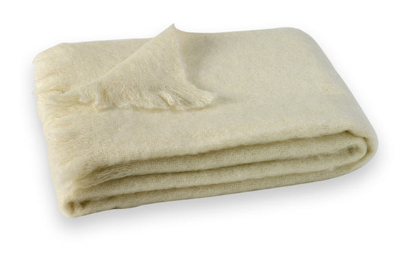 Masterweave Mohair Throw Cream