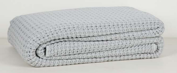 Vida Felize Stonewashed Waffle Throw Dove Sale