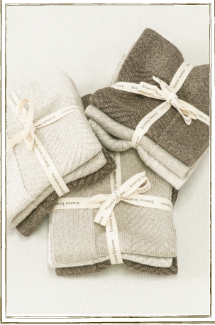 Bianca Lorenne Cheval Washcloths Natural Set Of 3