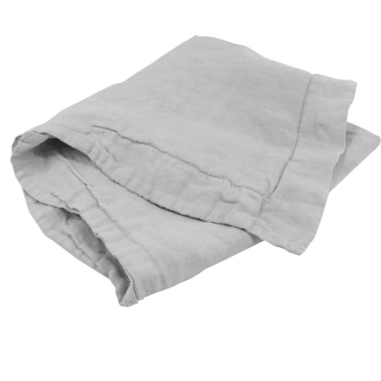 Vida Stonewashed Linen Fitted Sheet Dove King