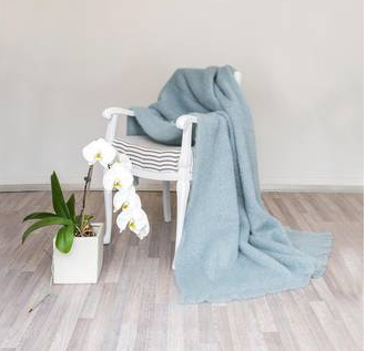 Masterweave Mohair Knee Throw Duckegg/Glacier