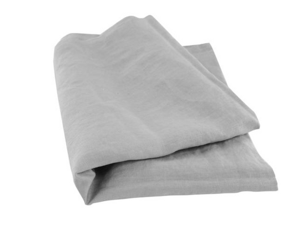 Vida Stonewashed Linen fitted Sheet Dove Grey King