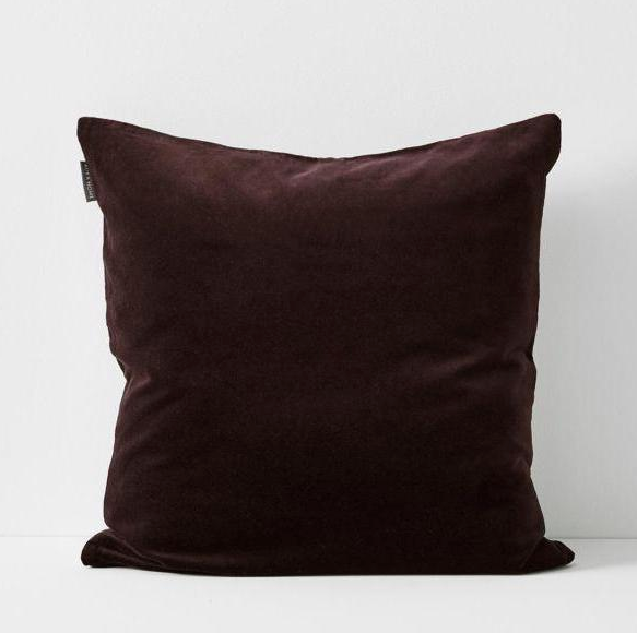 Aura Luxury Velvet Cushion Fig