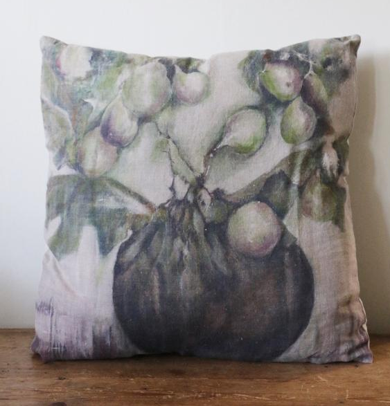 CC Interiors Fig and Ivy Linen Cushion