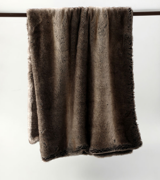 MM Linen Snug Faux Fur Throw