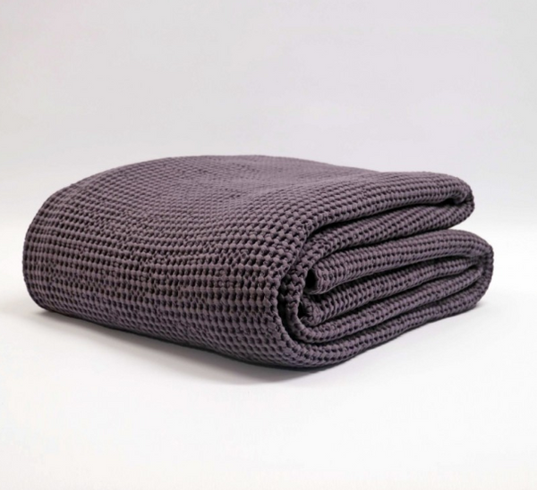 Baksana Bliss Stonewashed Throw Grape