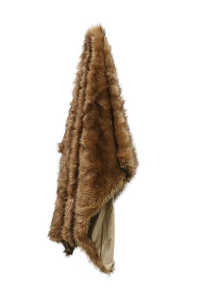 CC Interiors Luxury Moa Style Faux Fur Throw