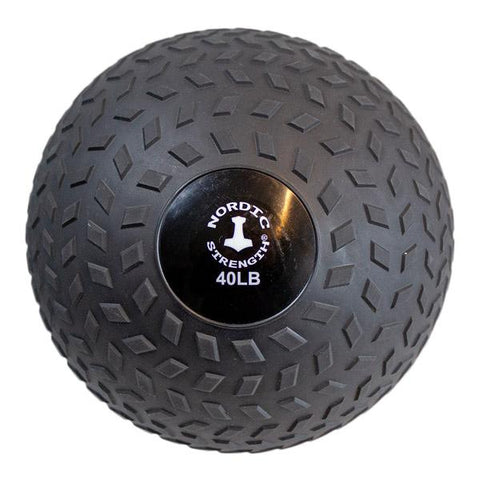 Slammerball 40 lbs - Nordic Strength Black