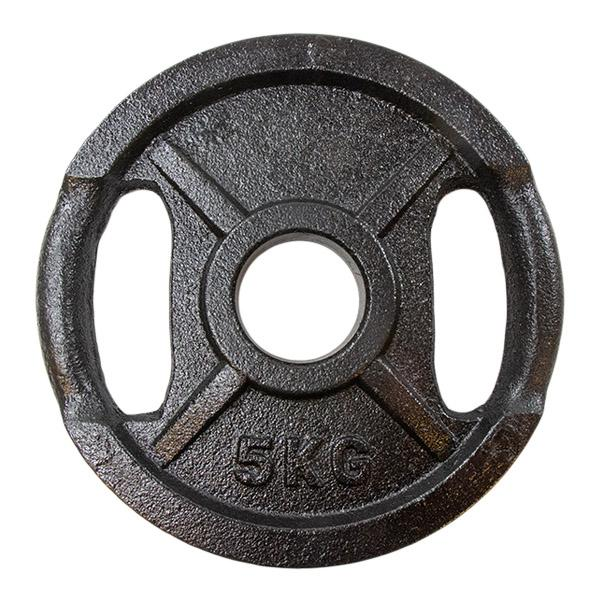 Vektskive i sort metall (50 mm) 5kg - Nordic Strength