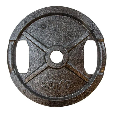 Vektskive i sort metall (50 mm) 20kg - Nordic Strength