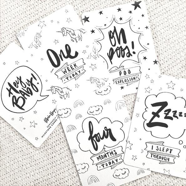 Milestone Cards - Seriously Cute
