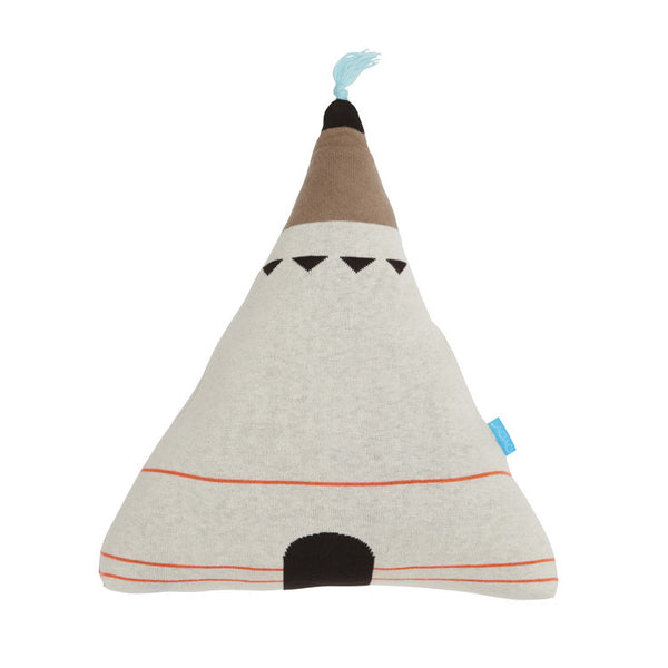 """Wigwam"" Cushion - Blue"