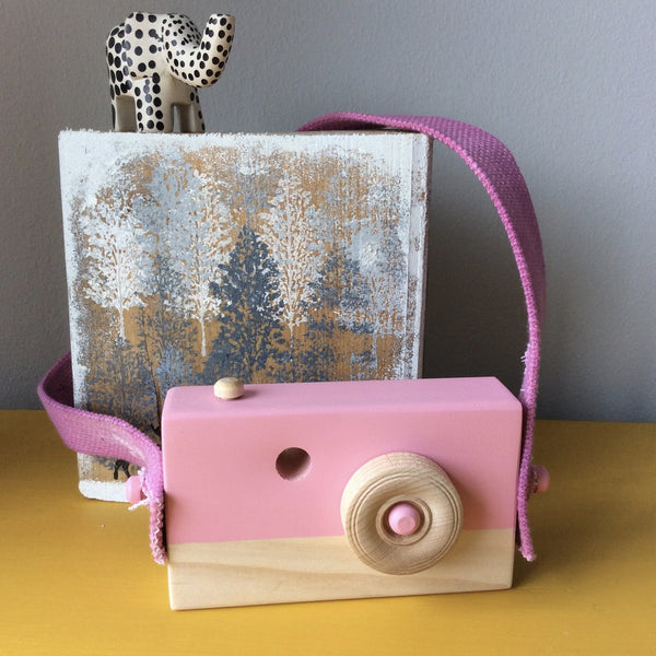 Lychee Pink Wooden Camera